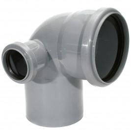Отвод канализационный 110-50 х 87,5 град. правый