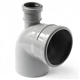 Отвод канализационный 110-50 х 87,5 град. вверх