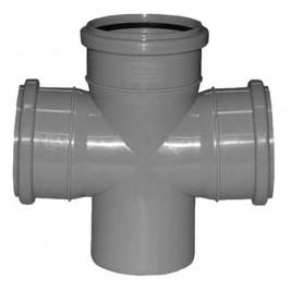 Крестовина канализационная 110-110-110 х 87,5 град.
